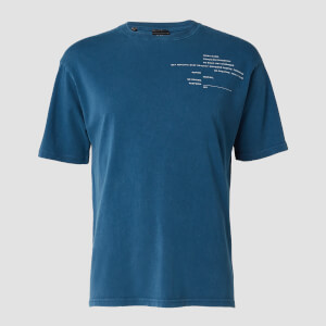 T-shirt Rest Day Staggered Slogan MP da uomo - Azzurro