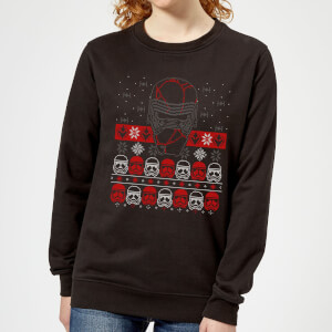 Star Wars Kylo Ren Ugly Holiday Women's Sweatshirt - Black