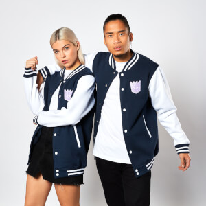 Transformers Decepticon Varsity Jacket - Navy / White