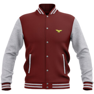 DC Comics Wonder Woman Varsity Jacket - Burgundy / Grey