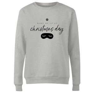 GLOSSYBOX Women's Christmas Jumper - Wake Me Up - Grey