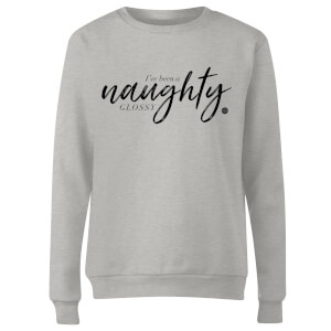 GLOSSYBOX Women's Christmas Jumper - GLOSSY Naughty - Grey