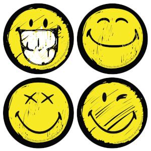 Multi Smiley Face Coaster Set