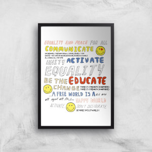 Positive Message Giclée Art Print