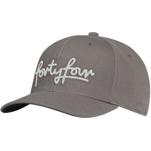 How Ridiculous Forty Four Grey Embroidered Curved Peak Cap