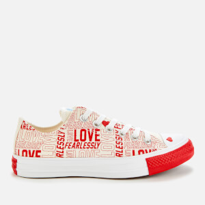 Converse Women's Chuck Taylor All Star Ox Trainers - Egret/University Red/White