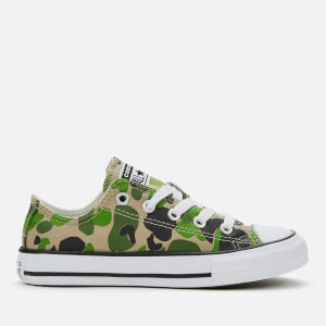 Converse Kids' Chuck Taylor All Star Camo Ox Trainers - Black/Khaki/White