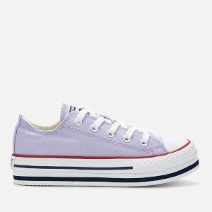 Converse Kids' Chuck Taylor All Star Platform Eva Ox Trainers - Moonstone Violet/Midnight Navy/Garnet