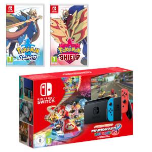 Nintendo Switch (Neon Blue/Neon Red) Pokémon Sword and Pokémon Shield Double Pack