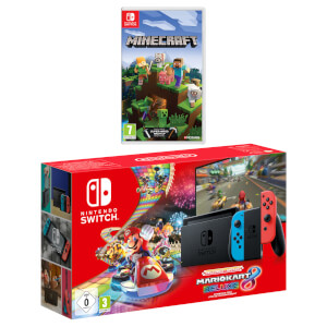 Nintendo Switch (Neon Blue/Neon Red) Minecraft Pack