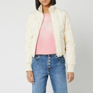 KENZO Women's Down Puffer Jacket Packable - Off White