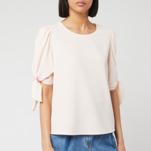 See By Chloé Women's Tie Sleeve Blouse - Pink Sand