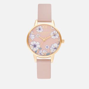 Olivia Burton Women's Groovy Blooms Eco Watch - Candy Pink & Gold