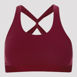 MP Women's Power Mesh Sports Bra - Oxblood