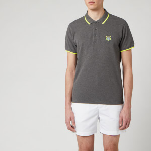 KENZO Men's Short Sleeve Tiger Crest Polo Shirt - Dark Grey
