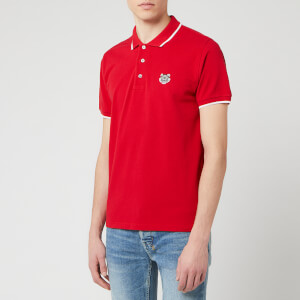 KENZO Men's Tiger Crest Short Sleeve Polo Shirt - Cherry