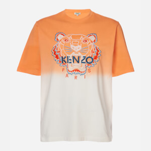 KENZO Men's Dip Dye Tiger Oversize T-Shirt - Deep Orange