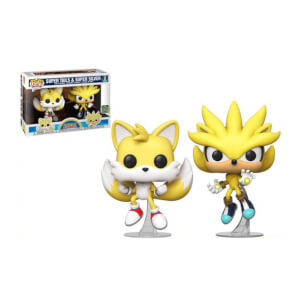 Sonic The Hedgehog Super Tails & Super Silver SDCC 2020 EXC 2-Pack Pop! Vinyl Figures