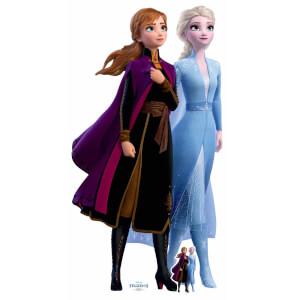 Disney Frozen 2 Anna & Elsa Lifesized Carboard Cut Out