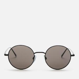 DKNY Women's Round Frame Sunglasses - Gunmetal/Smoke