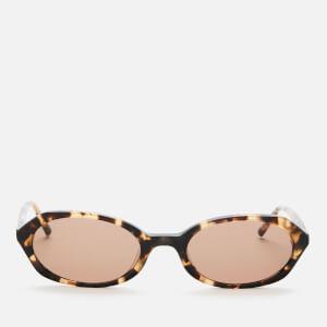 DKNY Women's Oval Acetate Sunglasses - Tokyo Tortoise