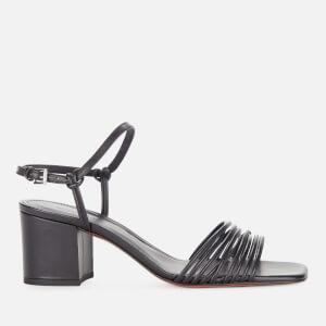 Whistles Women's Multi Strappy Block Heeled Sandals - Black
