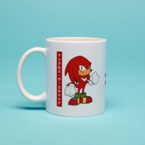 Knuckles Japanese Mug- White