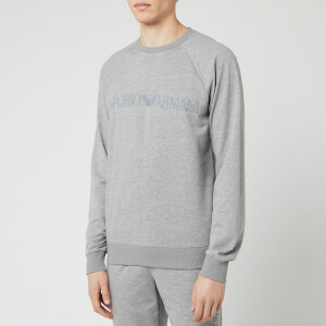 Emporio Armani Men's Crewneck Sweatshirt - Melange Grey
