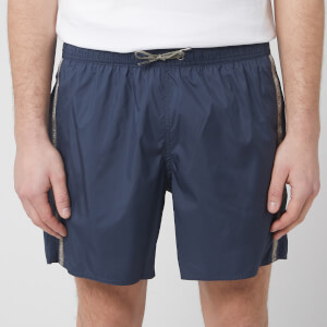 Emporio Armani Men's Logo Tape Boxer Swim Short - Navy