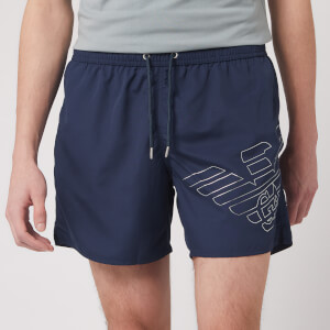 Emporio Armani Men's Silver Eagle Swim Short - Navy