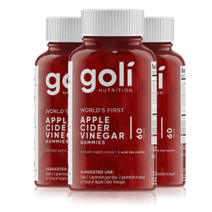 3 Bottles of Goli Apple Cider Vinegar Gummies Bundle