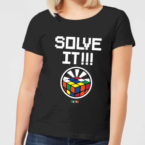 Solve It!!! Cube Glow Women's T-Shirt - Black