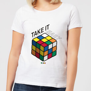 Take It Easy Rubik's Cube Women's T-Shirt - White