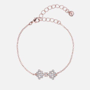 Ted Baker Women's Brinnal: Small Crystal Bow Bracelet - Rose Gold/Crystal