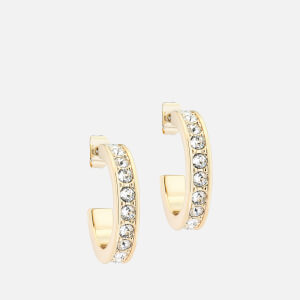 Ted Baker Women's Seanna: Small Crystal Hoop Earring - Gold/Crystal