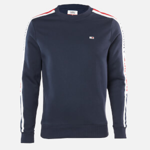Tommy Jeans Men's Branded Tape Sweatshirt - Twilight Navy