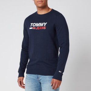 Tommy Jeans Men's Corporate Logo Sweatshirt - Twilight Navy