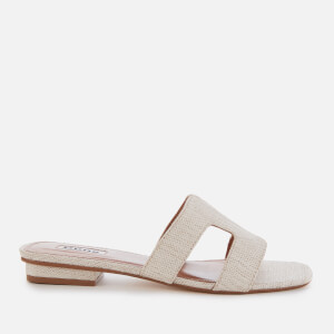 Dune Women's Loupe Canvas Mule Sandals - Natural