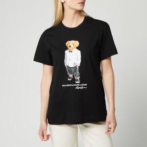 Polo Ralph Lauren Women's Short Sleeve Tux Bear Short Sleeve Knit - Black