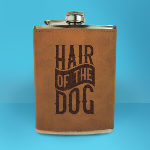 Hair Of The Dog Engraved Hip Flask - Brown