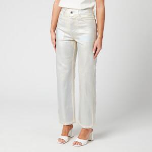 Helmut Lang Women's Factory Jeans - Silver/Ecru