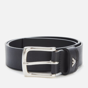 Emporio Armani Men's Tongue Belt - Black