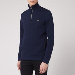 Lacoste Men's 1/4 Zip Sweatshirt - Navy