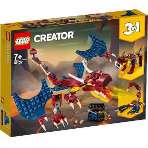LEGO® Creator 3-en-1: Le dragon de feu (31102)