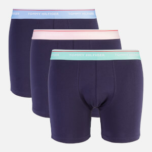 Tommy Hilfiger Men's 3 Pack Boxer Brief - Cornflower Blue/Cascade/Pinklady