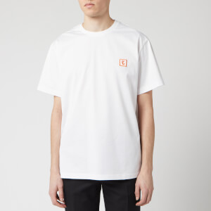 Wooyoungmi Men's Basic T-Shirt - White/Orange