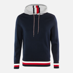Tommy Hilfiger Men's Global Stripe Detail Hoodie - Desert Sky
