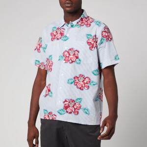 Polo Ralph Lauren Men's Short Sleeve Sport Shirt - Hibiscus Floral Stripe