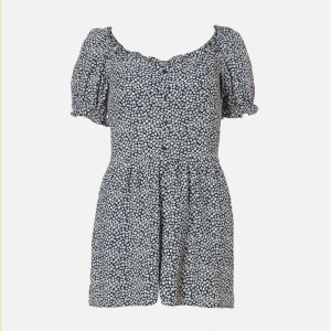 Superdry Women's Quincy Summer Playsuit - Navy Ditsy