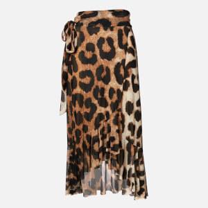 Ganni Women's Printed Mesh Skirt - Maxi Leopard